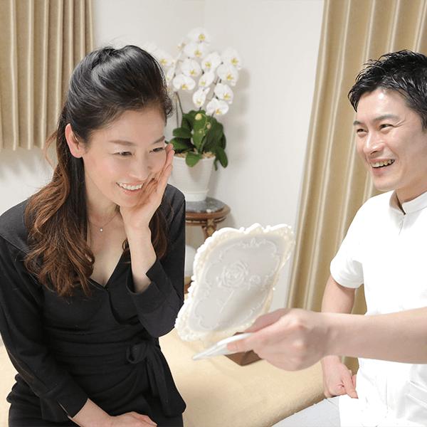 長谷川亮鍼灸院の特徴その3。メイクをしたままでも治療ができます。